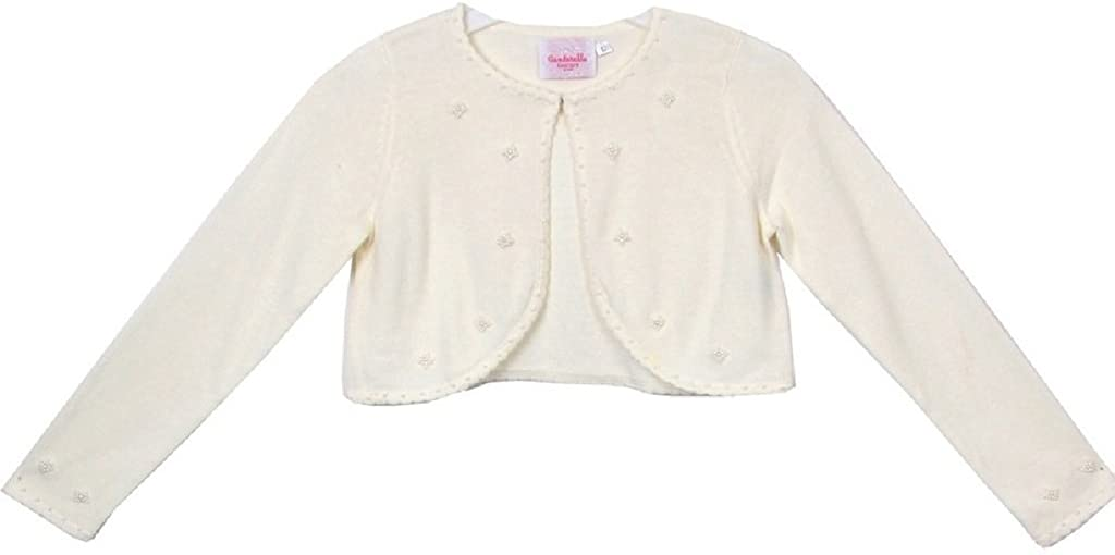 Classy 3010 White/Ivory/Black Pearl Beaded Sweater for Girl