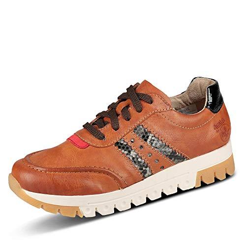 Rieker Damen Schnürhalbschuhe, Frauen sportlicher Schnürer, Halbschuh schnürschuh strassenschuh Sneaker,Braun(Cayenne),40 EU / 6.5 UK