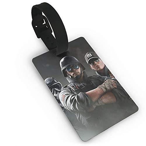 Rain-bow six sie-ge Gepäckanhänger aufgereiht Tag Krawatte auf Gepäcketiketten Gepäckanhänger Karte PVC 5.4cmx8.5cm