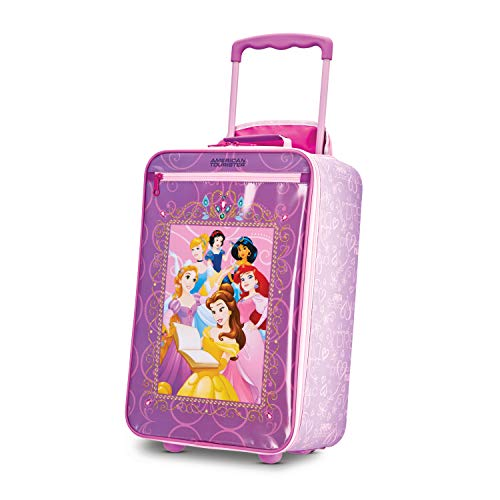 American Tourister Kids' Disney Softside Upright Luggage, Princess 2 American Tourister Mesh Carry On