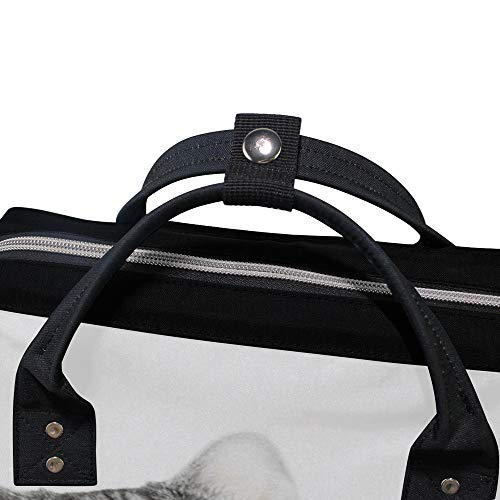 ZHIMI バックパック レディース マザーズリュック 可愛い猫の柄 大容量 A4サイズ収納 ビジネス メンズ 背面ファスナー付き 防撥水 通勤 通学 男女兼用