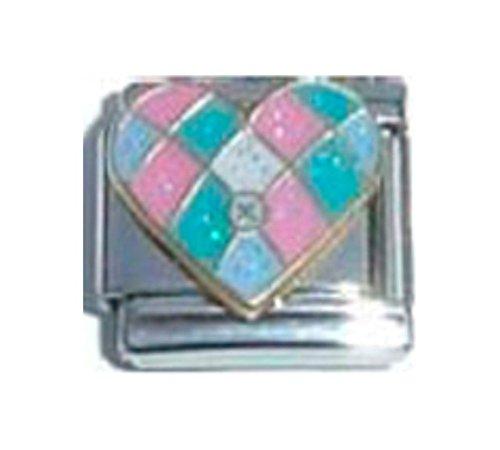 Colcha de retales Love corazón esmalte encanto italiano 9mm–1x LV105solo enlace pulsera