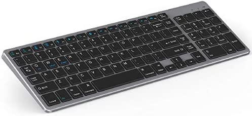 Rechargeable Bluetooth Keyboard Jelly Comb Wireless Slim Keyboard with Number Pad Full Size product image