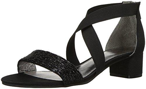 Adrianna Papell Women's Teagan Sandal, Black, 7 M US
