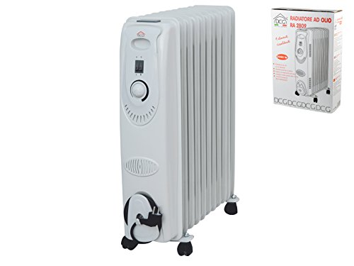 Dcg RA2809 Radiatore Elettrico Olio 9 elem 2000w Elettrodomestici per la casa