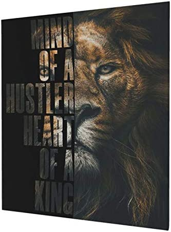 Hankcles Lion Motivational Canvas Wall Art Inspirational Entrepreneur Quotes Poster Print Artwork product image