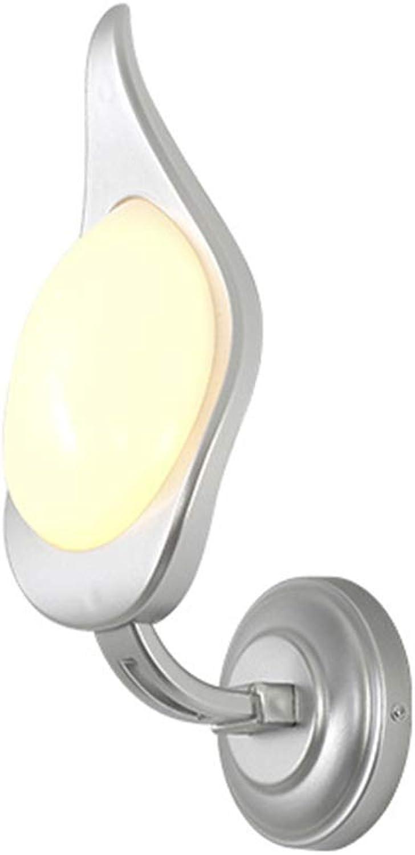 Nachtwandleuchten, amerikanische postmoderne Acryl PC 8W LED kreative Persnlichkeit Dekor (warmes Licht),Silber