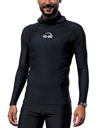 iQ-UV Herren UV Kleidung 300 Hooded-Shirt Long Sleeve, black, L (52)