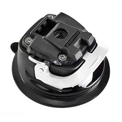 ROKK Mini Hardcore Saugnapf Mount System, schwarz/weiß, Einheitsgröße