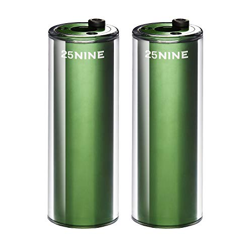 25NINE BMX Bike Pegs – Aluminum Core with PC Outer Sleeve – Green