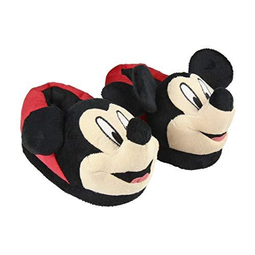 Cerdá 2300004415 Hausschuhe für Kinder, 3D-Design, Stil: Mickey Mouse, Rot - rot - Größe: 28 EU