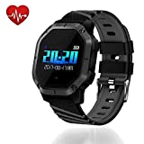 UsHigh Smart Watch Heart Rate Blood Pressure Activity Tracker Sleep Monitor,Pedometer,Calorie Counter,IP68 Waterproof Fit Kids,Women,Men Fitness Bracelet (Black & Gray)