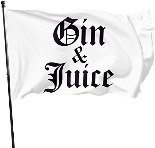 tenghanhao Flagge/Fahne Gin & Juice Decorative Garden Flags Outdoor Artificial Flag for Home Garden Yard Decorations 3x5 Ft
