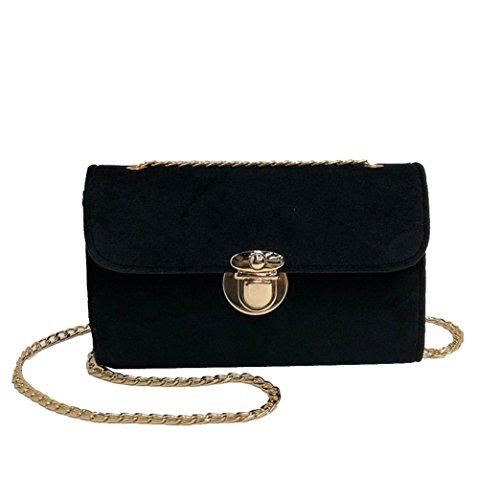 manadlian Damen Elegant Samt Schultertasche, Umhängetasche Frauen Retro Gold Samt Tasche Schultertasche Messenger Bags Tote Handtasche (Schwarz)