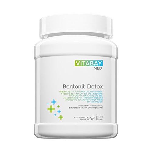 Bentonit Detoxpulver ultrafein 1000g - über 90% Montmorillonit - Entgiftung & Schwermetallausleitung