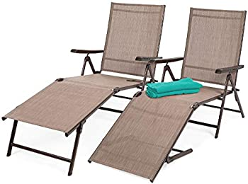 Set of 2 BCP Outdoor Patio Chaise Recliner Lounge Chairs