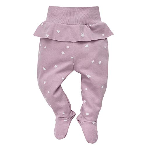 Pinokio Pinokio - Einhorn Kollektion - Baby Neugeborene Hose Baumwolle, rosa mit Sternen oder grau gepunktet; Bedruckt - Jogginghose, Leggings, Schlafhose - elastischer Bund mit Füßchen, Mädchen (rosa, 68)