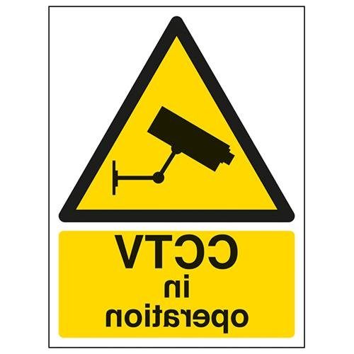 VSafety CCTV in Operation segnale di avvertimento – 200 mm x 300 mm – autoadesivo per finestra