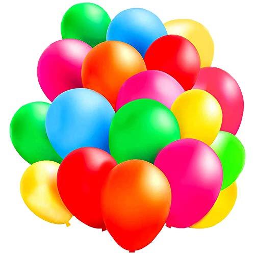 CHANGYONGXIN Ballon de Baudruche Anniversaire, 100pcs 12 inch Ballons Coloré pour Fêtes Anniversaire Cérémonie de Mariage Party Décorations