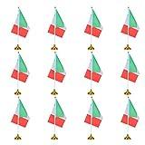 BESPORTBLE Confezione da 12 Bandiera da Tavolo con Base Mini Bandiera da Tavolo Bandiera d...