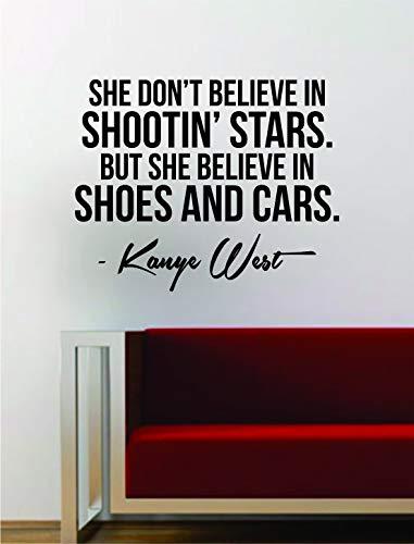 CECILIAPATER Kanye West Shoes and Cars Zitat, Vinyl, Kunst, Musik, Songtexte, Heimdekoration, Yeezy Yeezus inspirierende Rap Hop