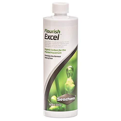 Seachem FLOURISH EXCEL CARBONO BIODISPONIBLE PARA PLANTAS DEPÓSITO DE ACUARIO (botella de 500 ml)