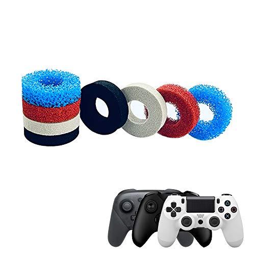 Stoßdämpfer für Thumbstick,Aim Assist Ringe für ConAim Assist Ringe für Controller . Motion Control Zielhilfe passend für PS4, PS5, Xbox, Switch Joysticks. 4 verschiedene Stärken (8Pcs)
