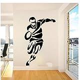 MINGKK Autocollant mural Grand joueur de rugby Sport Sticker mural chambre salle de jeux Football athlète de football sticker enfants chambre vinyle décor 85x54 cm
