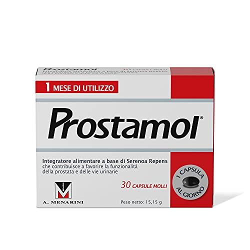 Prostamol - Integratore Alimentare che contribuisce a favorire la funzionalità della Prostata e delle vie Urinarie. 30 Capsule molli da 505 mg.
