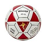 Mikasa FT5 - Balón de fútbol, Color Rojo y Blanco, Talla 5