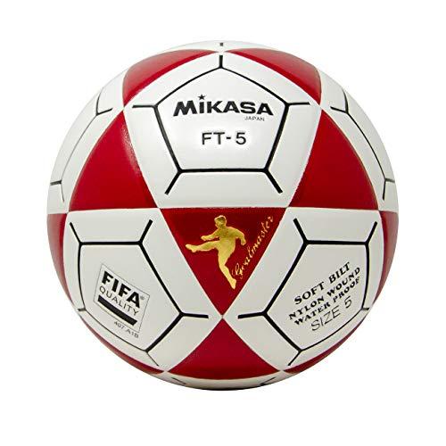 Mikasa FT5 - Pallone da calcio Goal Master, taglia 5, colore: Rosso/Bianco
