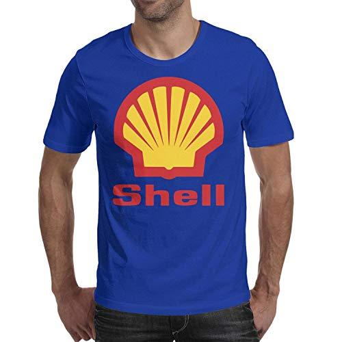 Young Men Short Sleeve T-Shirt Comfort Shell-Gasoline-Gas-Station-Logo- Comfy Cotton T-Shirt