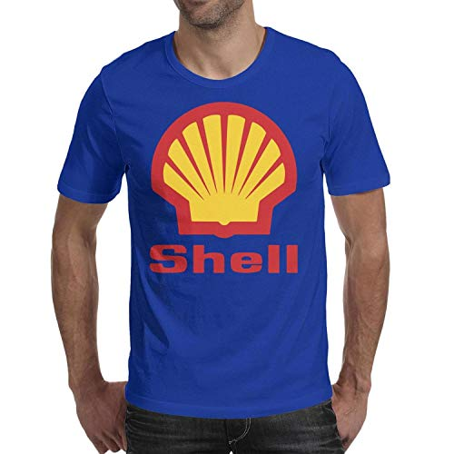 Young Men Short Sleeve T-Shirt Comfort Shell-Gasoline-Gas-Station-Logo- Comfy Cotton T-Shirt
