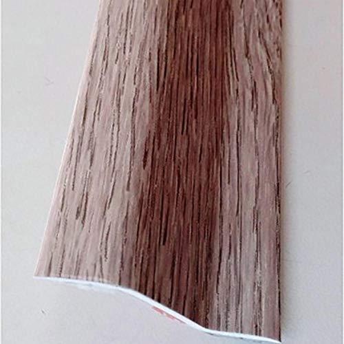 RUFETE PLETINA PERFILADA Forma Z Adhesivo 37MMX1MT PVC Roble Blanco