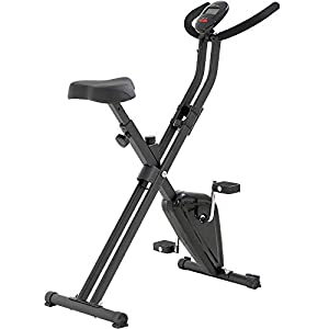 T-LoVendo TLV-XB01 Bicicleta Estatica Plegable Tipo X Entrenamiento Fitness Cardio Pantalla LCD, Negro