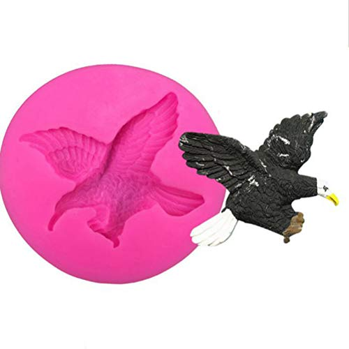 1pc Cute 3D Flying Eagle Silicone Mold for DIY Ice Cube Jelly Shots Desserts Soap Mould Cupcake Cake Topper Decoration Crystal Candy Chocolate Pudding Gum Paste Fondant Mold Handmade Ice Cream