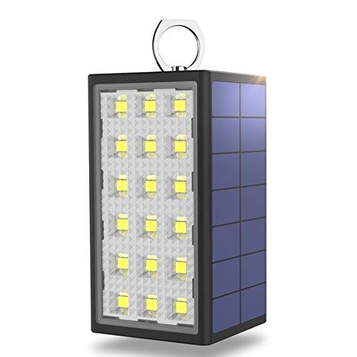 BigBlue Lampe de Camping Rechargeable,10600mAH Batterie Portable Solaire,3 Modes de Lumières,IPX5 Etanche,Eclairage d'urgence Puissante Lanterne avec Ventouse pour Voiture et Randonnée avec Câble USB