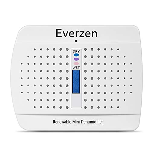 EVERZEN Rechargeable Mini Dehumidifier, Moisture Absorber for Small Spaces