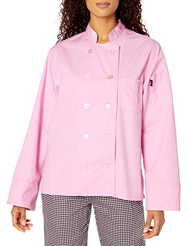 Dickies Chef Women's Classic Coat, Pink, Medium