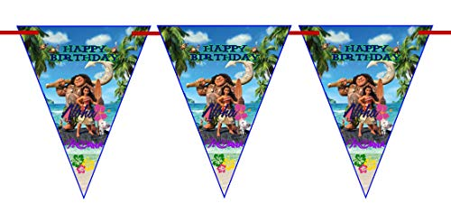 Crafting Mania LLC.. 10 MOANA Special Triangles For Birthday Banners