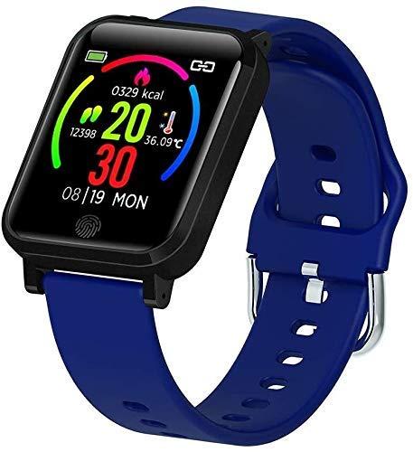 GANG Fitness Tracker F29 Pulsera Inteligente con Monitor de Temperatura 1.3 Pulgadas Ip67 Deporte Impermeable Smartwatch Termómetro Reloj Inteligente con Ritmo Cardíaco Presión Arte
