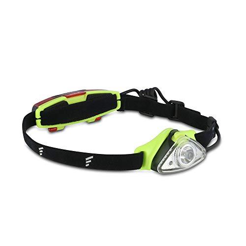 Favour Profi Outdoor Stirnlampe LED Kopflampe IPX7 wasserdicht, Rotlicht für Nachtsicht und Rücklicht, leicht und kompakt, wiederaufladbar (inkl. Akku)