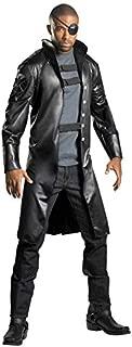 HAMISS for On Deluxe Nick Fury Costume Adult Halloween Movie Fancy Dress Men's Superhero Cosplay Dressing