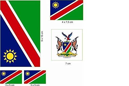 U24 Aufkleberbogen Namibia Aufkleber Set Flagge Fahne