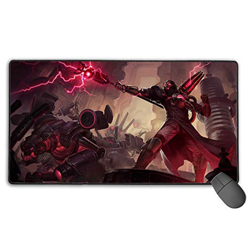 Extended Gaming Mouse Pad for League Legends Viktor Creator, Computer Keyboard Mouse Mat Computer Keyboard Pad Mat for PC Computer Laptop 11.8x31.5 in(30cm X 80cm)