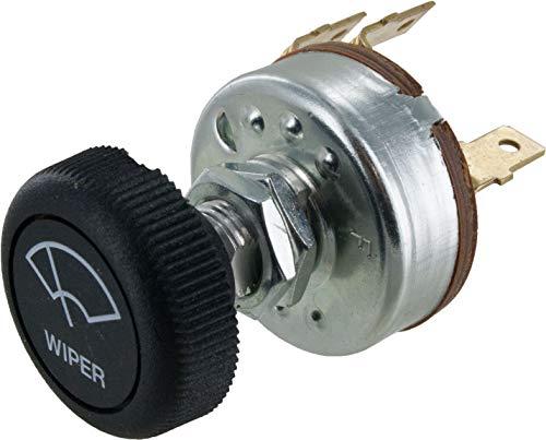 Dts New Universal Windshield Wiper Motor Switch w Knob 2 Speed - Street Hot Rod