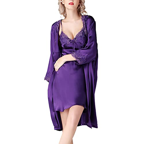Women's Dressing Gown 2 Pieces Silk...
