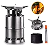 Camping Stove, Portable Backpacking Wood Stove with Collapsible Campfire Tool and Carrying Bag,...