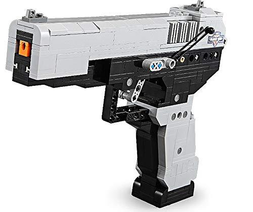 Modbrix Pistola técnica M23 Desert Eagle con función de tiro, juguete de construcción de 412 piezas
