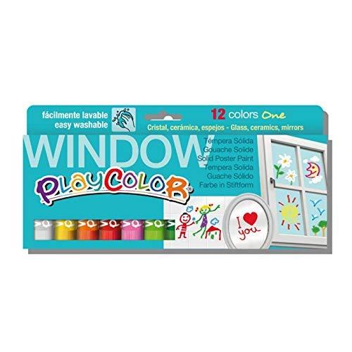 Playcolor Window One - Pintura Para Cristales - 12 colores surtidos - 02011